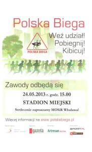 plakat polska biega