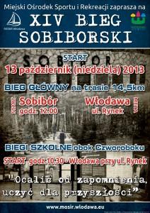 plakat XIV bieg sobiborski