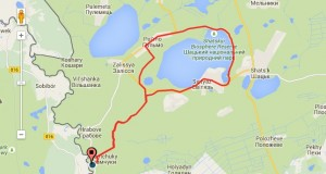 mapa bieg po lesie
